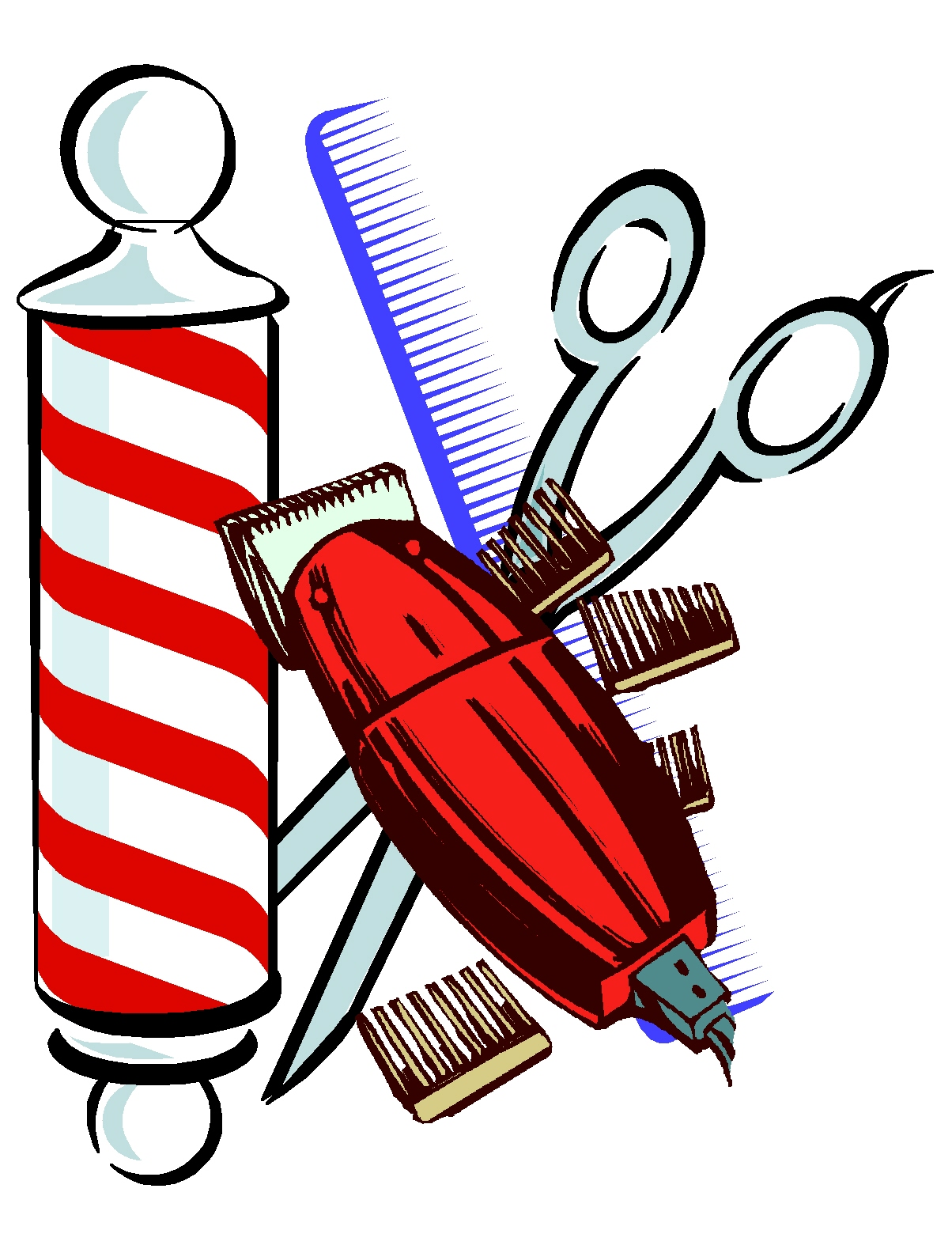 Barber Clipart A Haircut and DIY Hair...